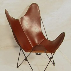 Folding Chair Auction Covers On Sale 149 Vintage Leather Iron Butterfly Iro