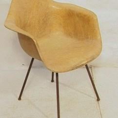 Fiberglass Shell Chair Aluminum Dining 103 Herman Miller Rope Edge E