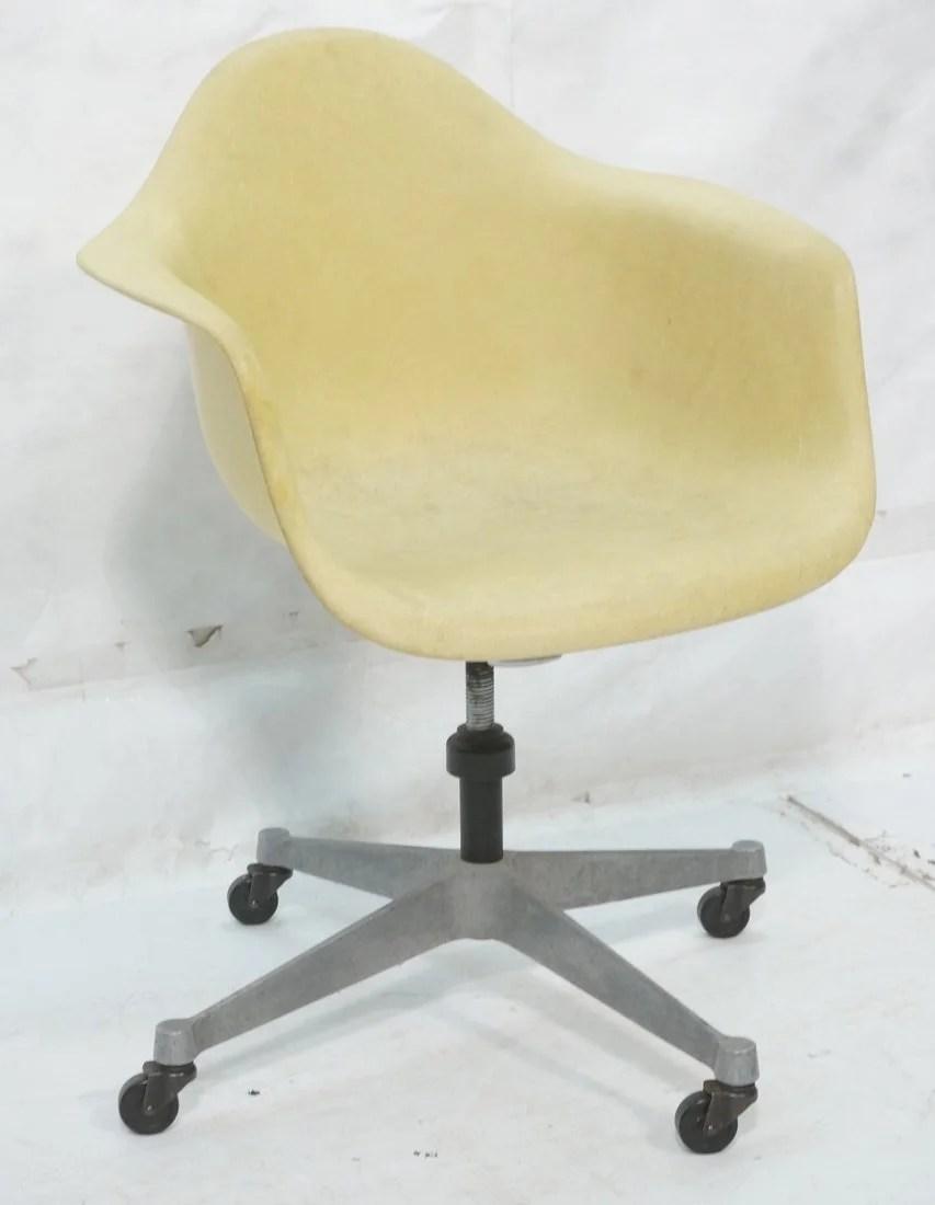 fiberglass shell chair folding game eames office pale yellow