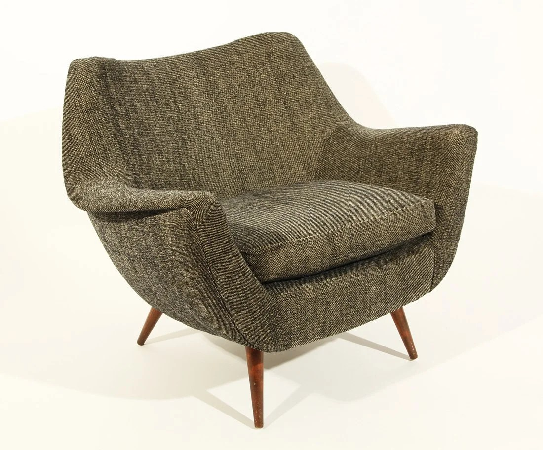 Scandinavian Chair 379 A Grey Scandinavian Chair Mid 20th Century Grey On Liveauctioneers