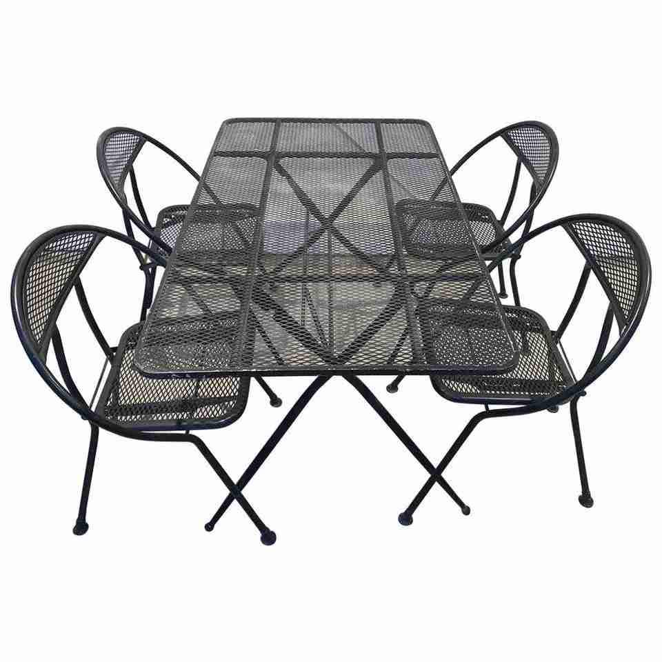vintage folding patio set by salterini