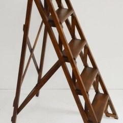 Library Chair Ladder Plans Covers Nyc Vintage Wooden Folding Step