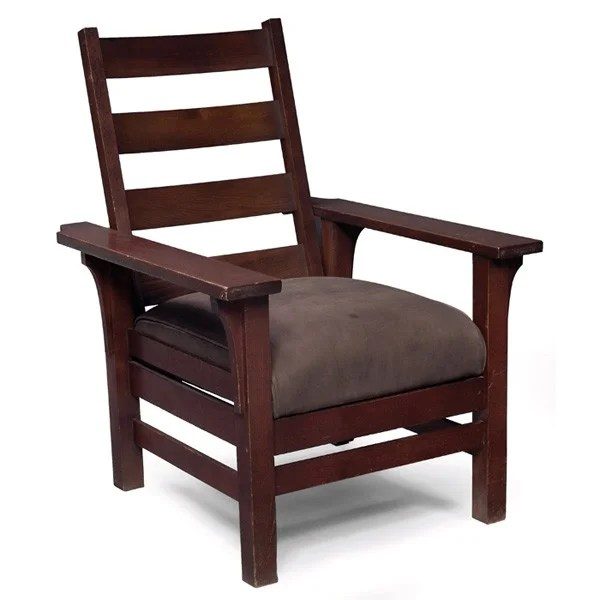 sikes chair company howard elliott puff covers 64 arts crafts morris manufactured by c