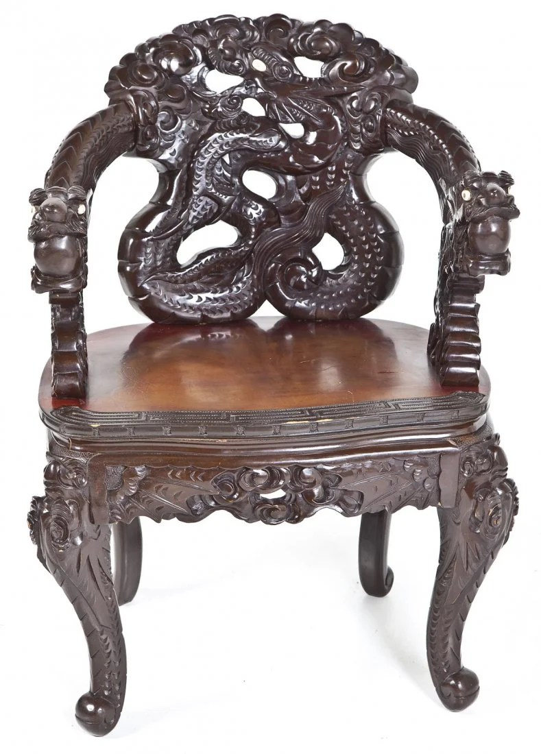 antique chinese dragon chair vintage designer chairs carved