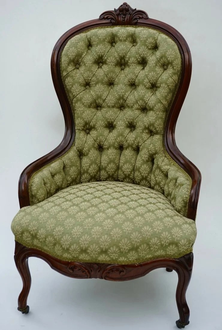 Antique Parlor Chairs Antique Victorian Rococo Revival Parlor Chair Carved Wa