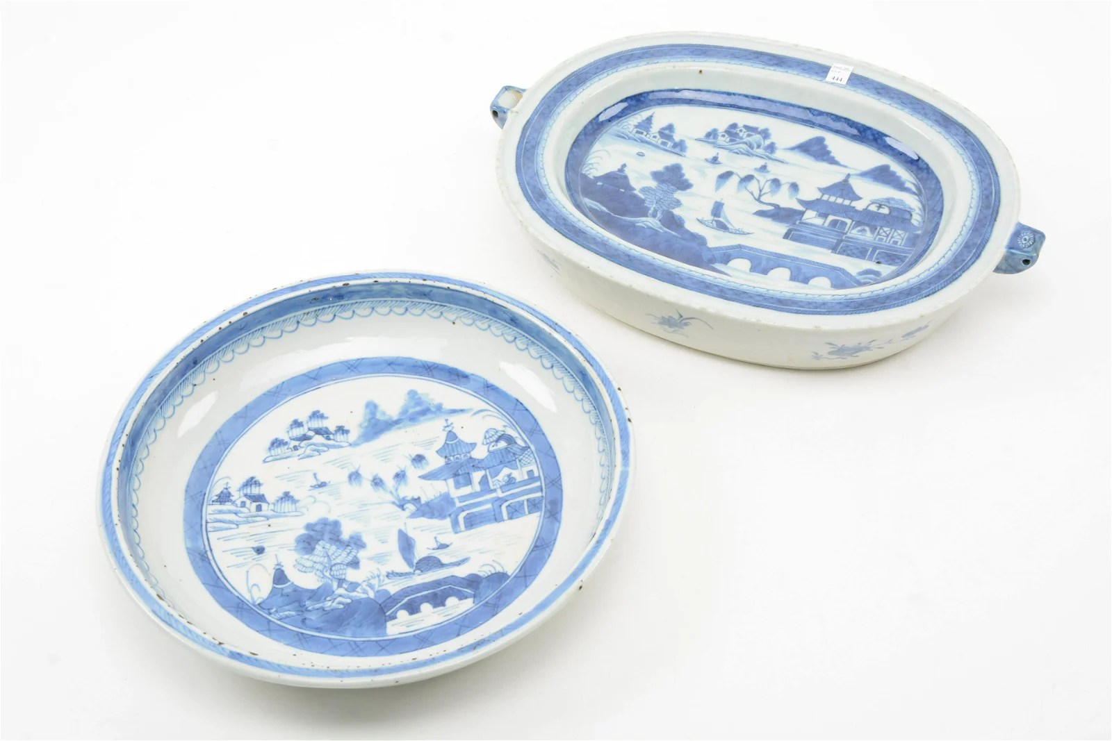 19th Century Chinese Export Serving Pieces