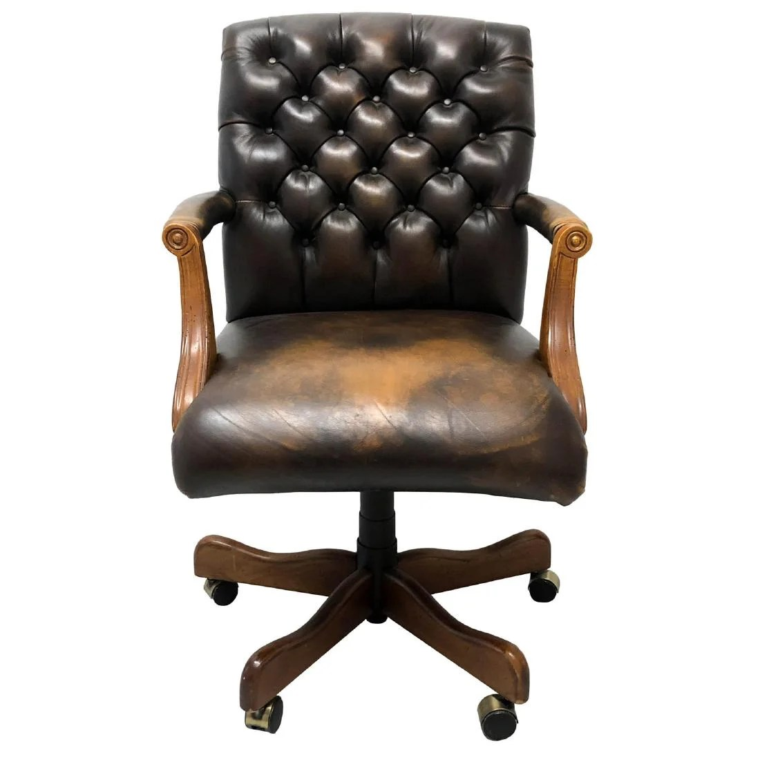 Sam Moore Chairs Tufted Polo Leather Sam Moore Executive Chair On Liveauctioneers