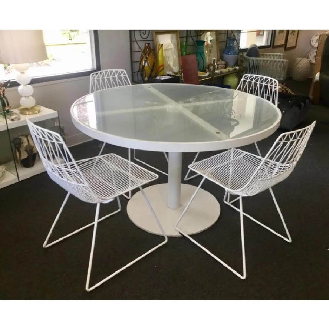 antique metal chairs for sale wooden bar stool vintage italian modern white table 4