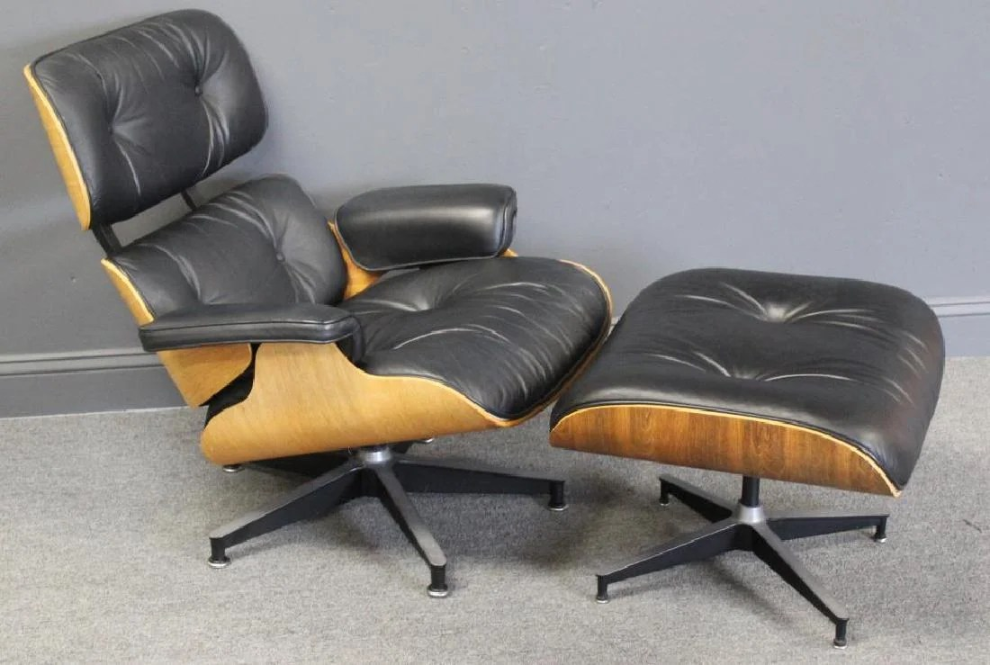 charles eames lounge chair faux leather dining and ottoman