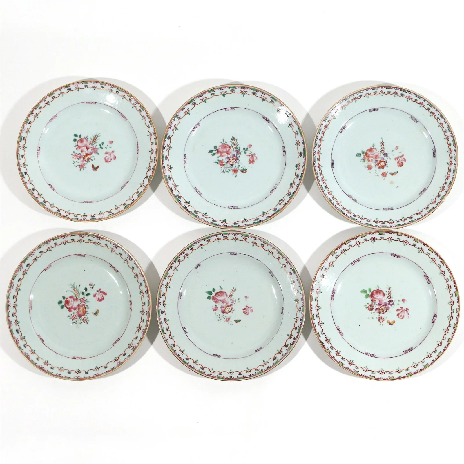 (6pc) CHINESE EXPORT PORCELAIN PLATES