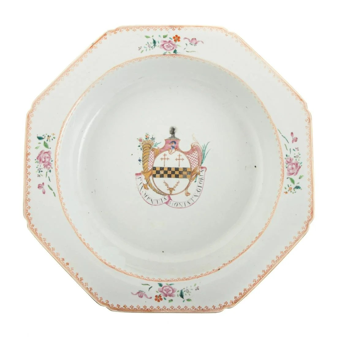 Chinese Export Armorial Porcelain Basin