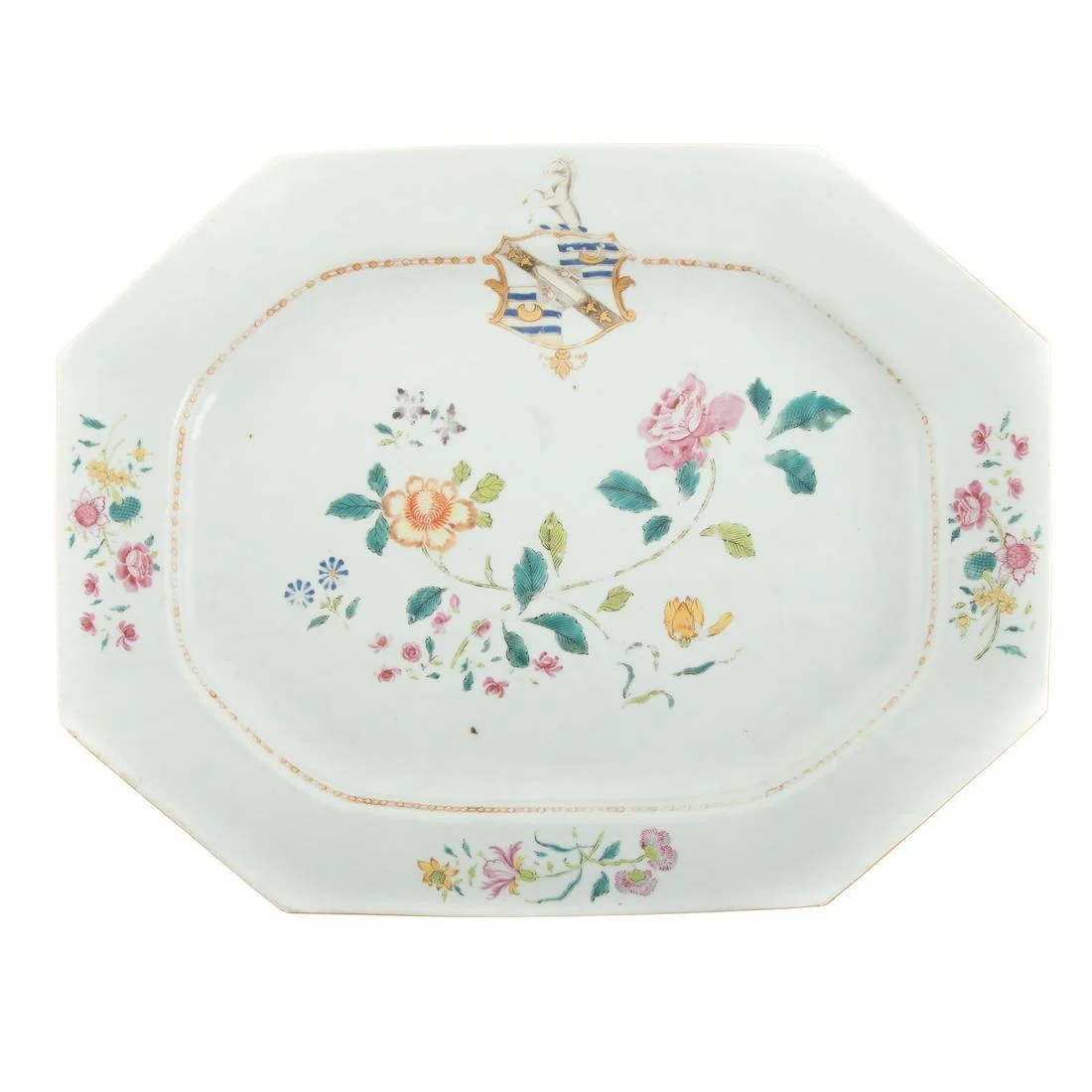 Chinese Export Armorial Platter