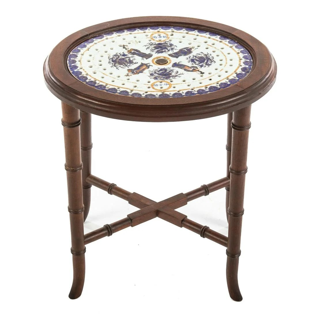 Chinese Export Mazzrine Side Table