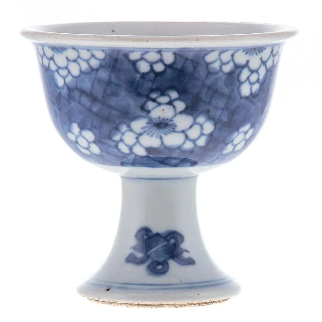 Chinese Blue/White Porcelain Stem Cup