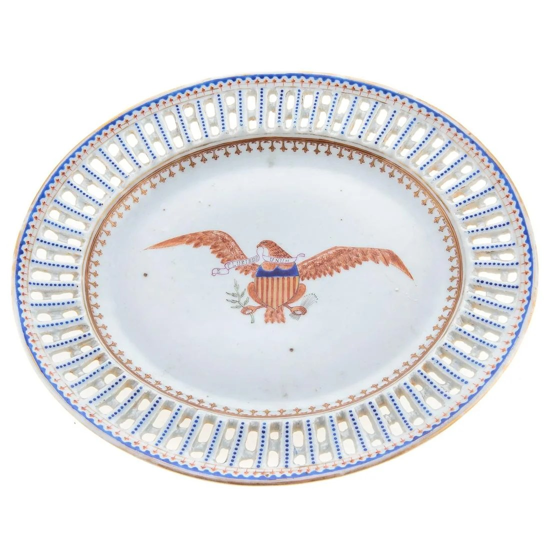 Chinese Export American Eagle Underplate