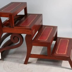 Library Chair Ladder Plans Antique Wicker Back Chairs Mahogany Convertible Step