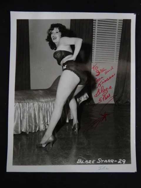 Blaze Starr Signed Photograph