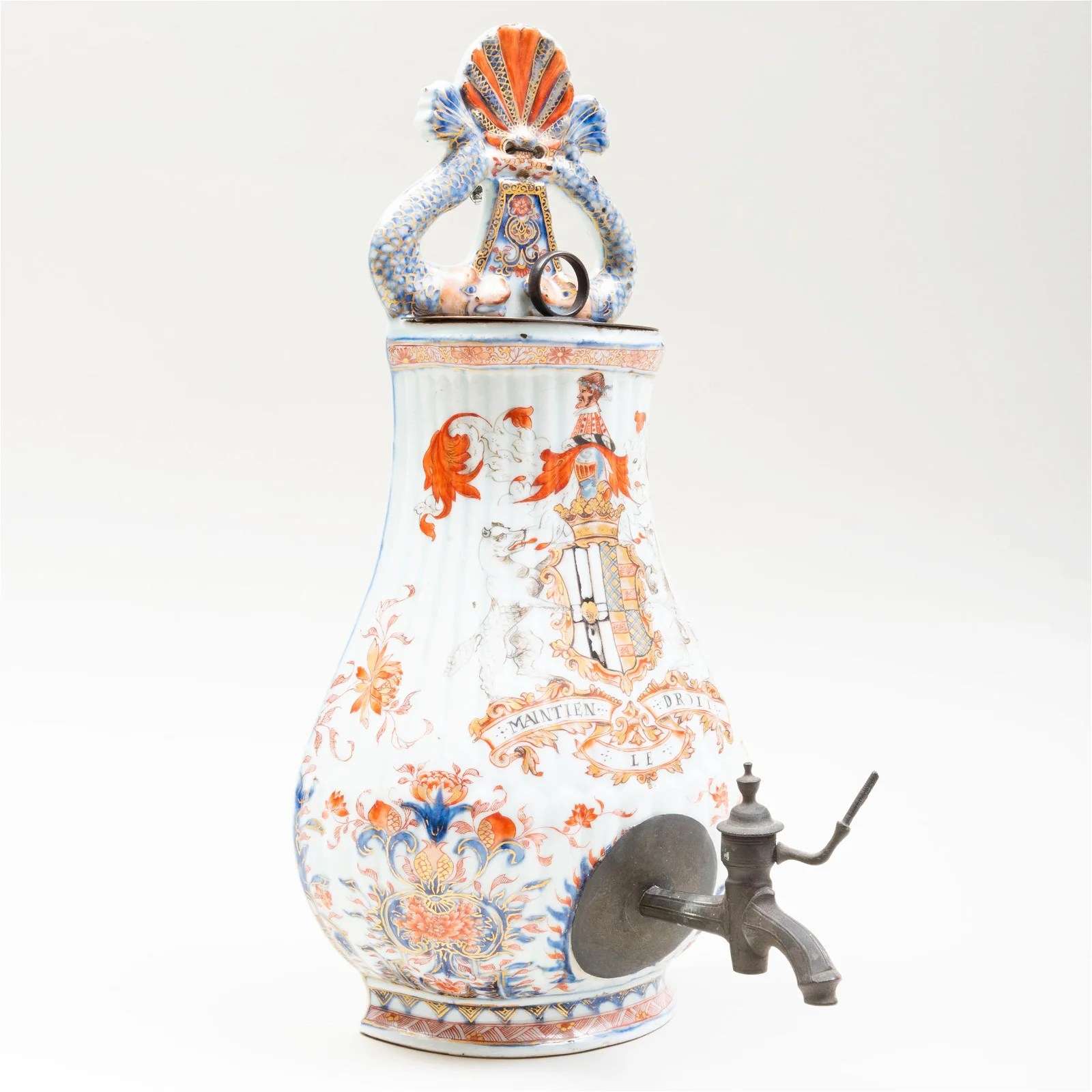 Chinese Export Porcelain Wall Fountain