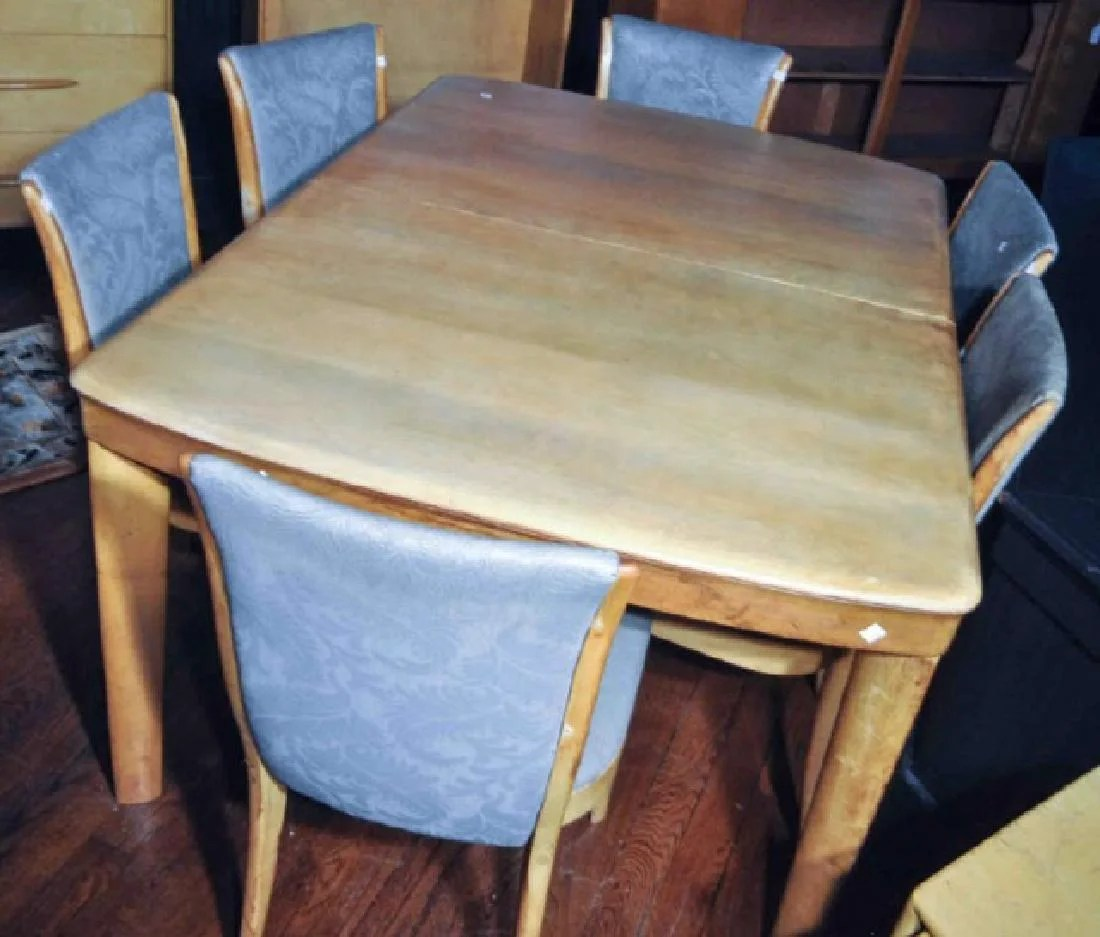 Heywood Wakefield Dining Chairs Mc Heywood Wakefield Dining Table And Chairs On Liveauctioneers