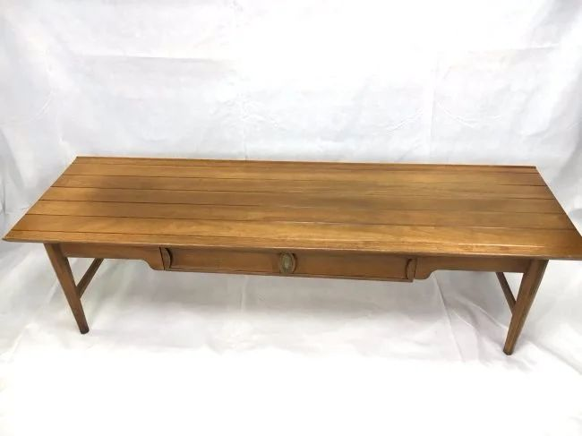 drexel heritage long coffee table mid century mod
