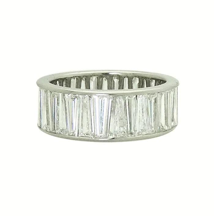 Tiffany  Co Platinum tapered baguette diamond wedding