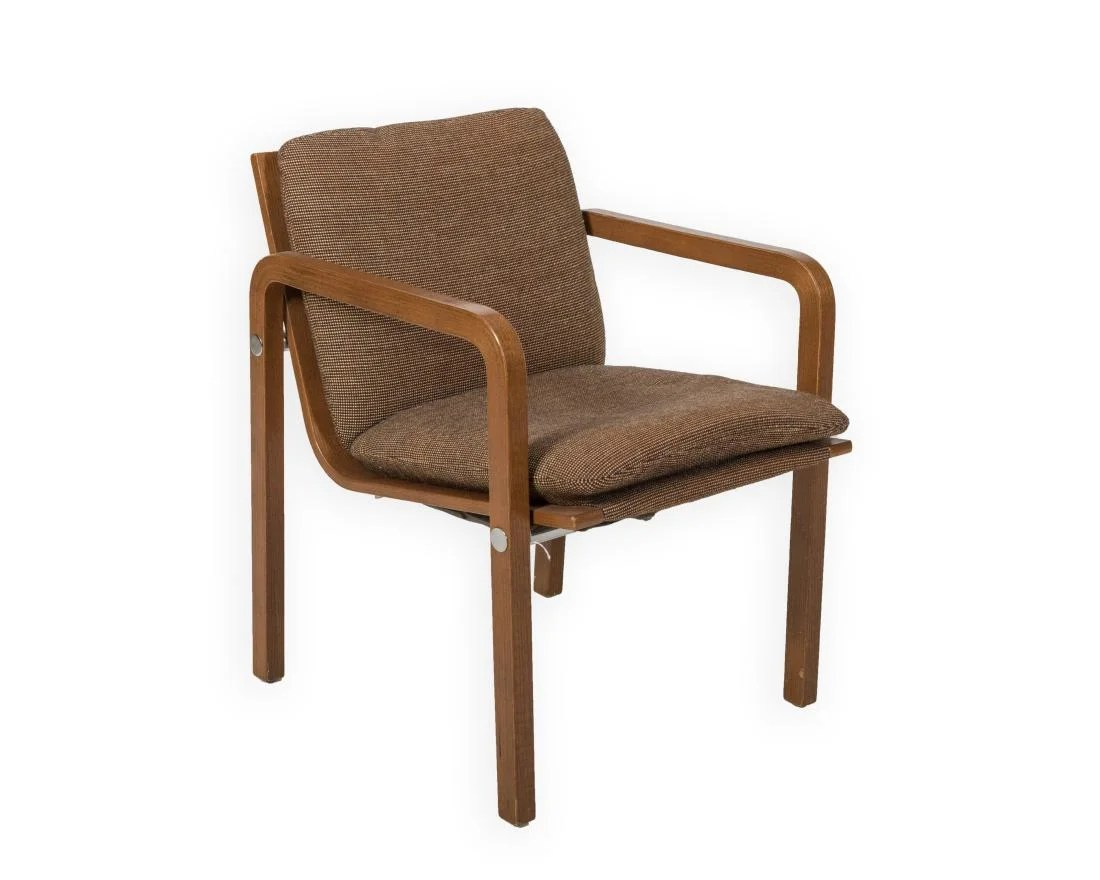 Stretcher Chair Thonet Chair With Chrome Stretcher Signed On Liveauctioneers