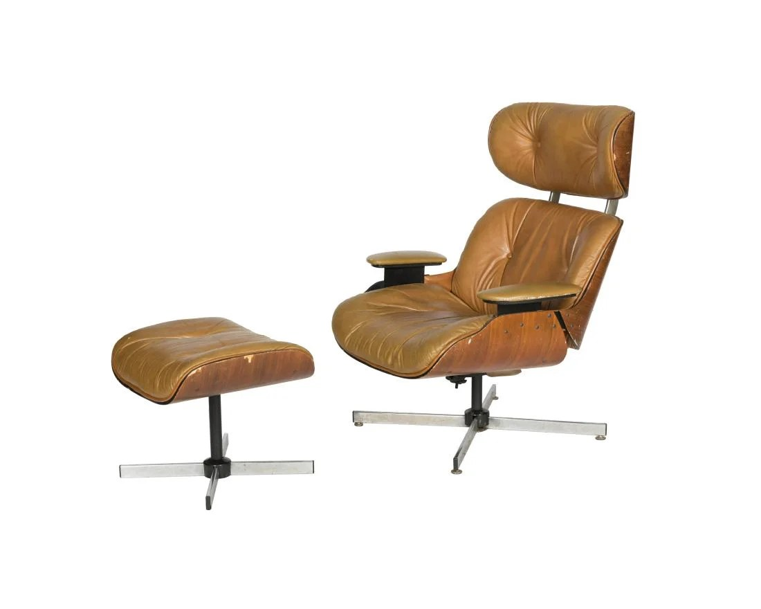 selig eames chair gliding cushion replacement style and ottoman