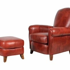 Ethan Allen Leather Chair Loveseat And A Half Ottoman