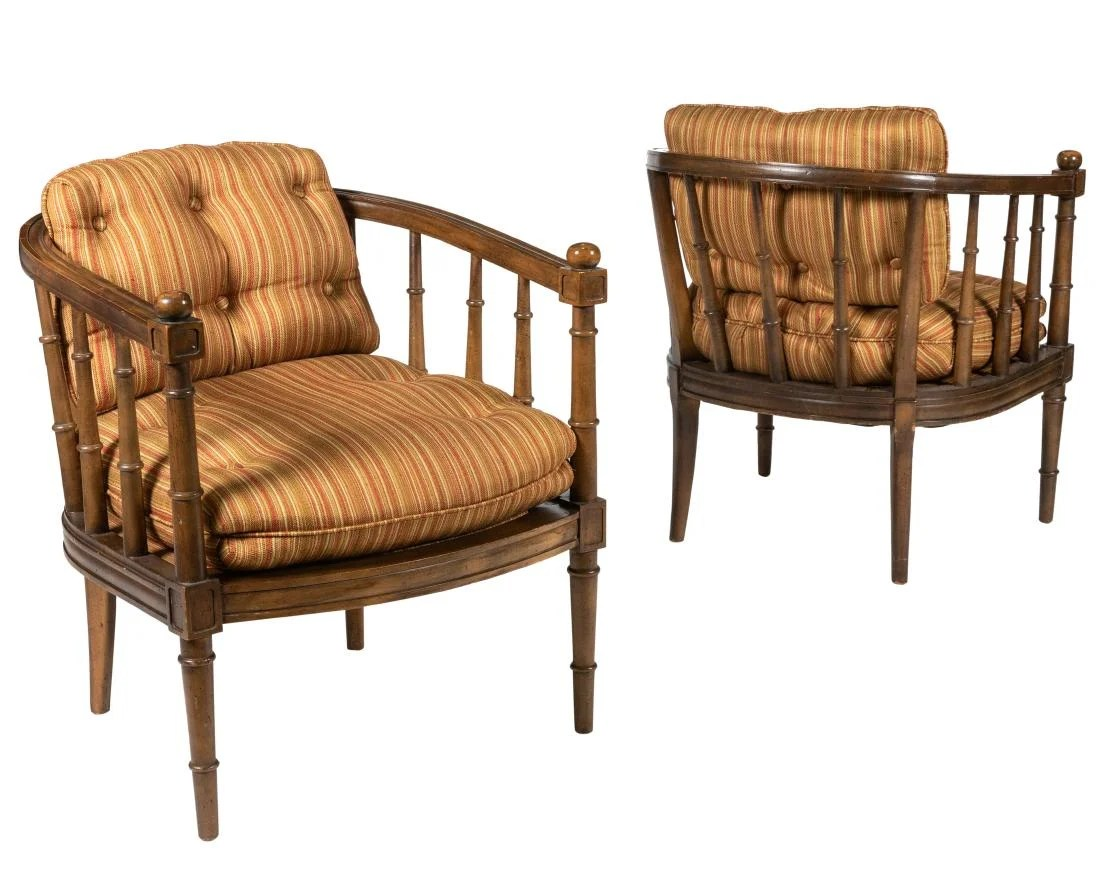 Bamboo Chairs Hollywood Regency Faux Bamboo Chairs On Liveauctioneers