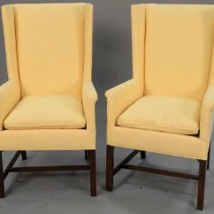 Hickory Chair Co French Country Dining Chairs With Arms Pair Of Wing Ht 44 1 2in
