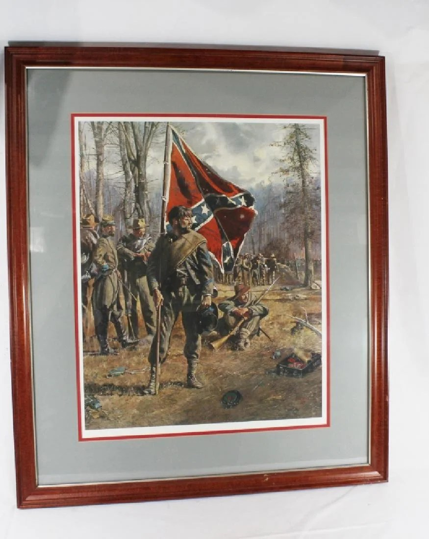 signed don troiani confederate