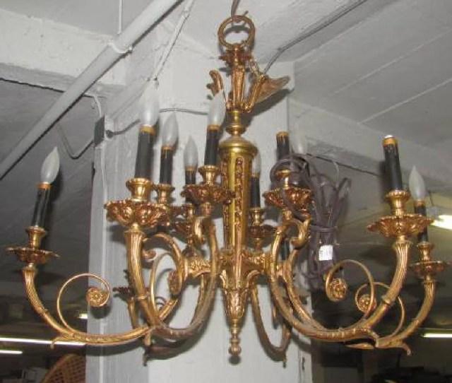 Dietz Baby Lamp With Chain Heavy Brass Chandelier