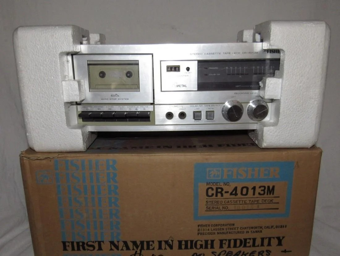 fisher cr 4013m stereo cassette tape deck oct 15 2018 m j stasak jr auction and appraisal service in nj [ 1100 x 828 Pixel ]