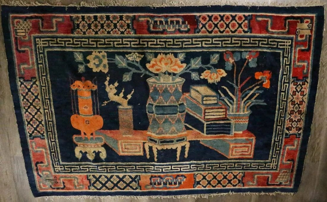 A CHINESE NINGXIA 100 ANTIQUES CARPET