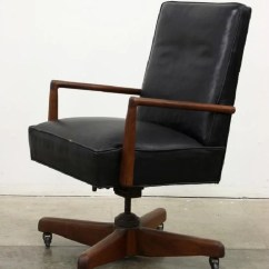 Leather Executive Office Chair Gym On Vintage Desk