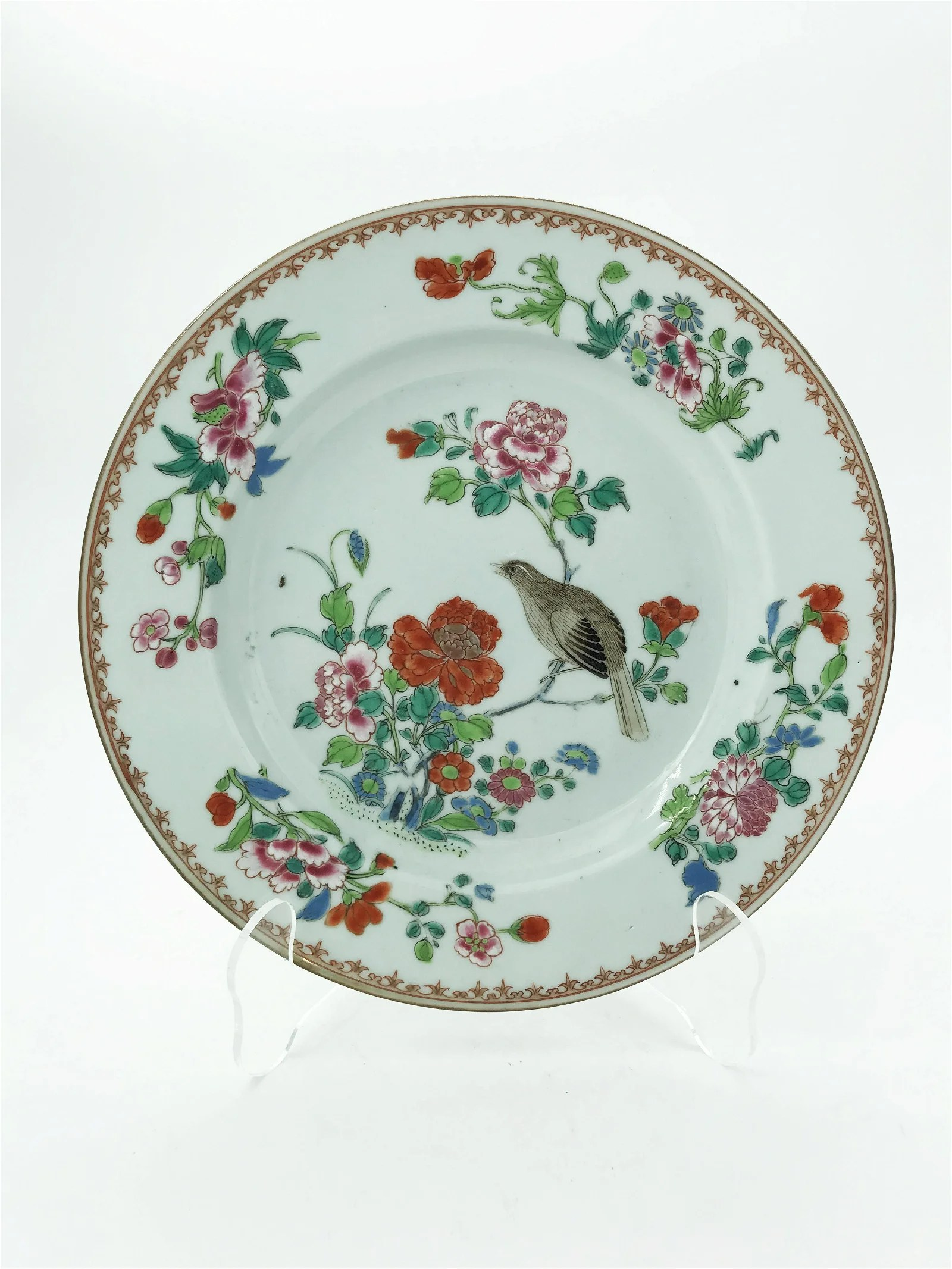Chinese Export Famille Rose Dish, 19th c.