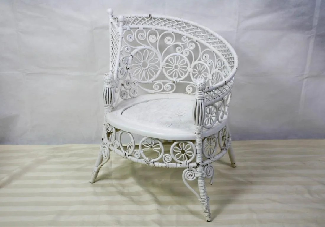 childs rattan chair office comfortable victorian child s
