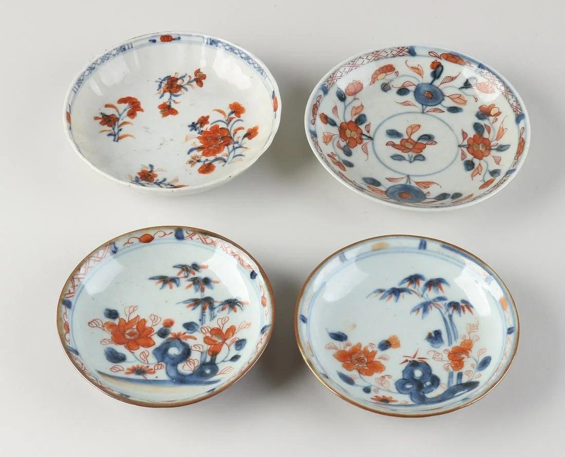 Four Chinese Imari dishes