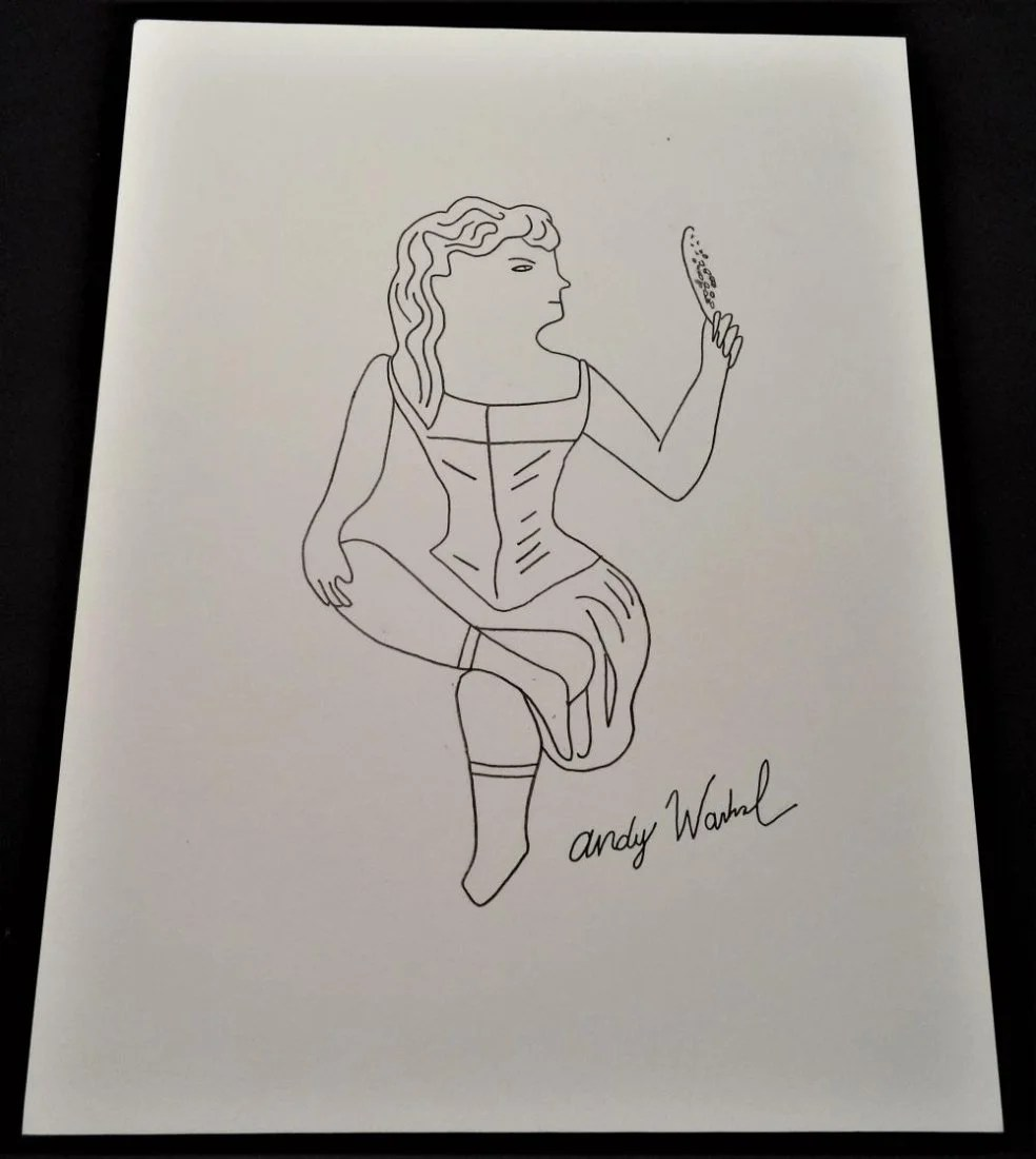small resolution of four drawings signed andy warhol dec 01 2018 leviton fine art llc in ca