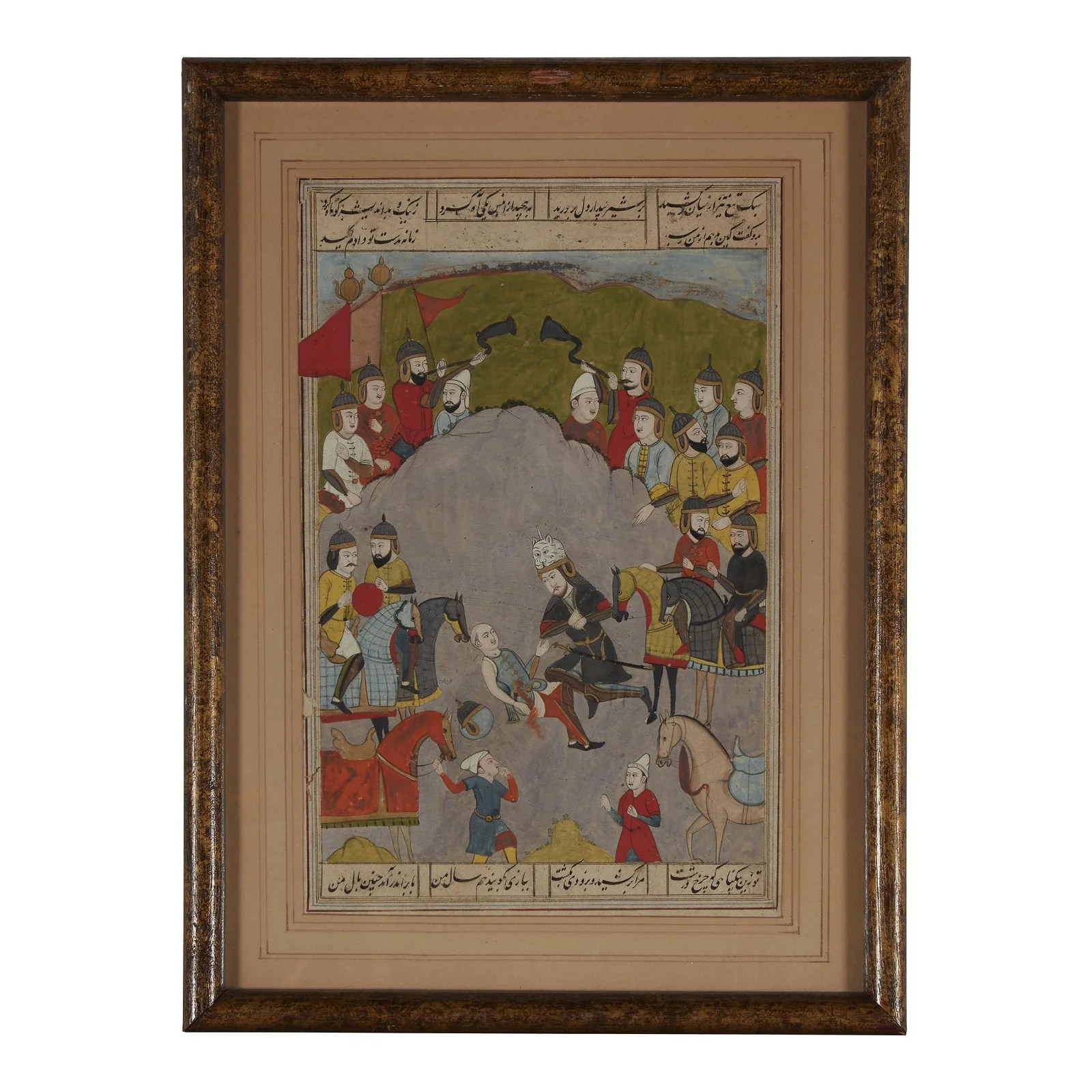 A Kashmiri miniature painting depicting Rustam and the