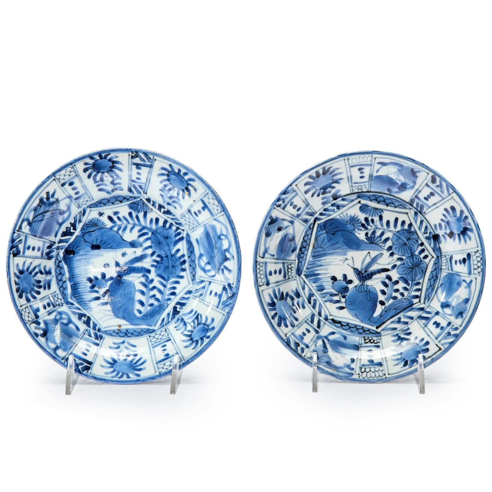 A pair of Japanese Arita porcelain blue and white