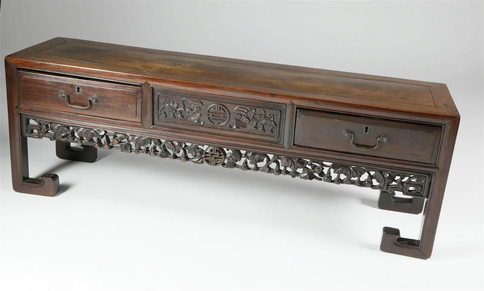 Chinese Teak Wood Low Table, circa 1850