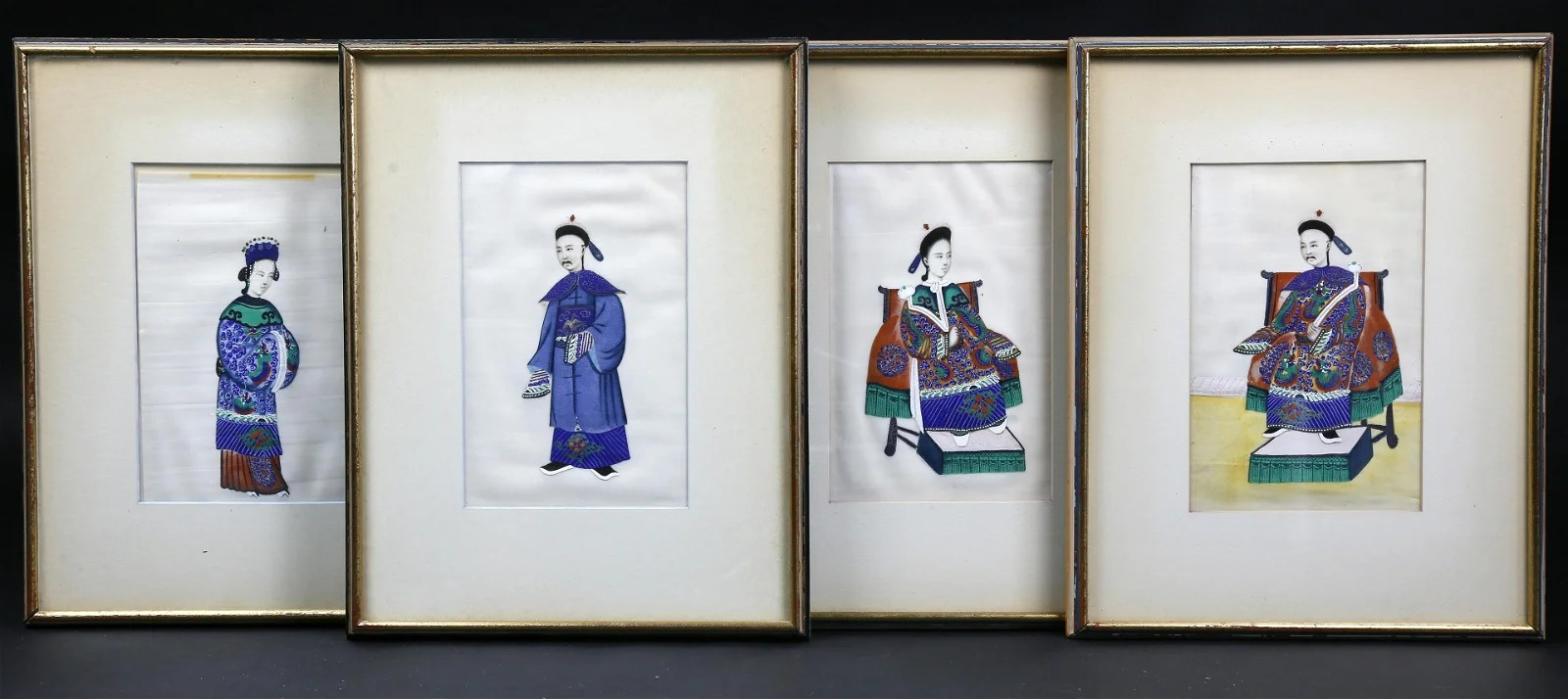 Four Chinese Export Watercolors, circa 1820