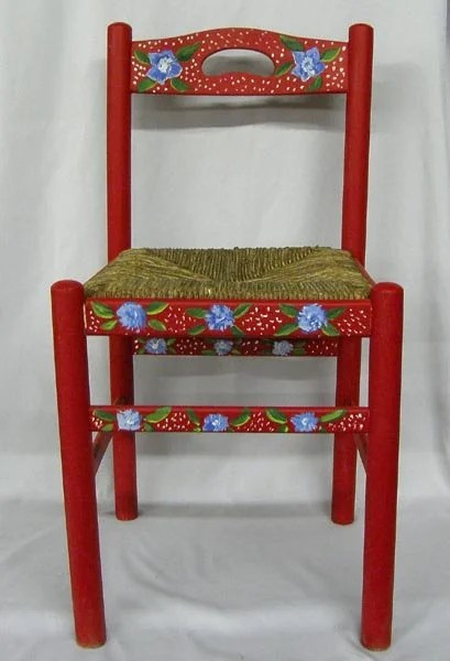 hand painted wooden chairs how to upholster a chair back with woven seat