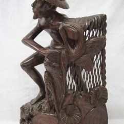 Wooden Hand Chair Bali Purple Living Room Chairs Sono Wood Carved Old Fisherman