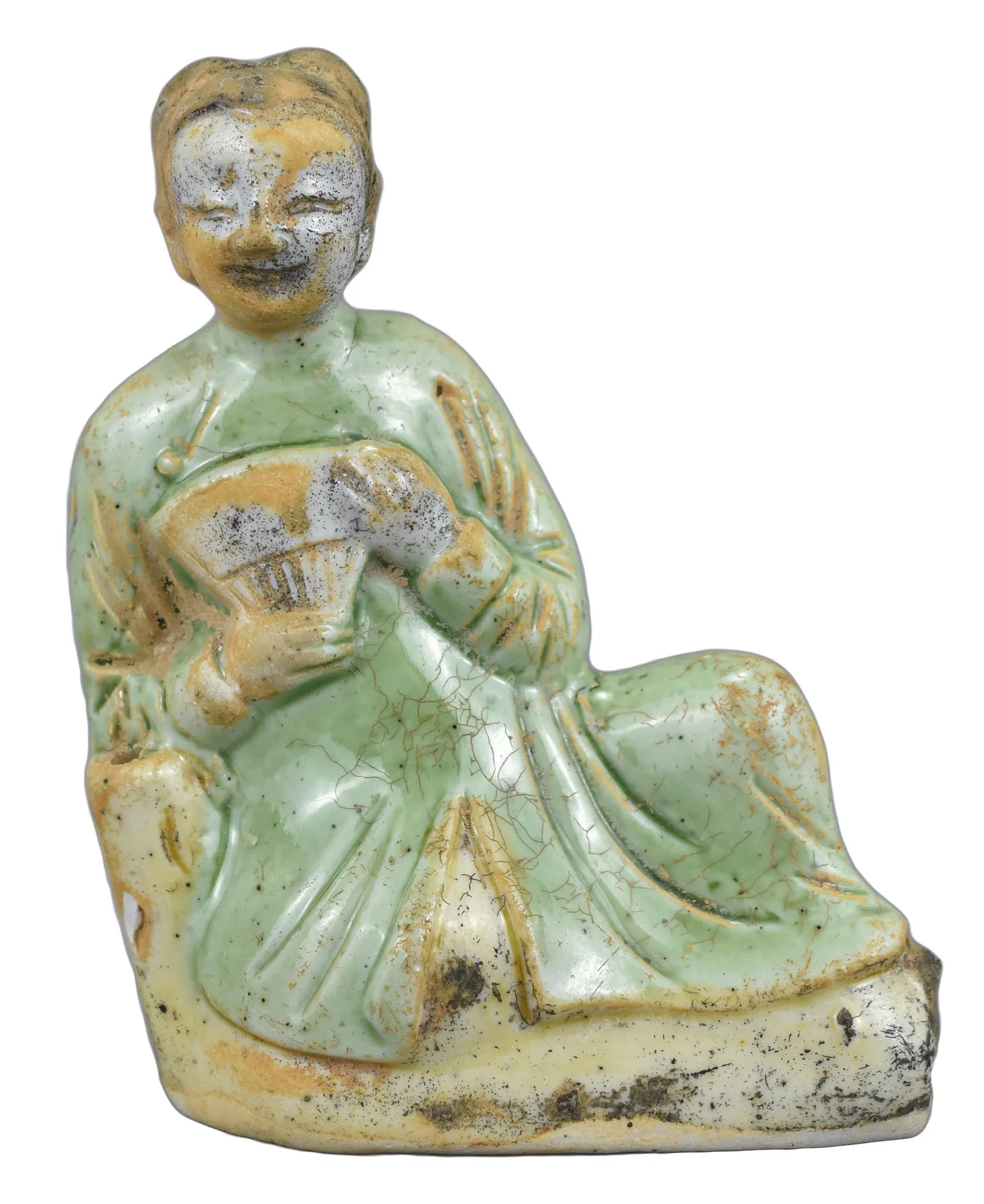 A Fine Small Chinese Porcelain Figure of a Reclining