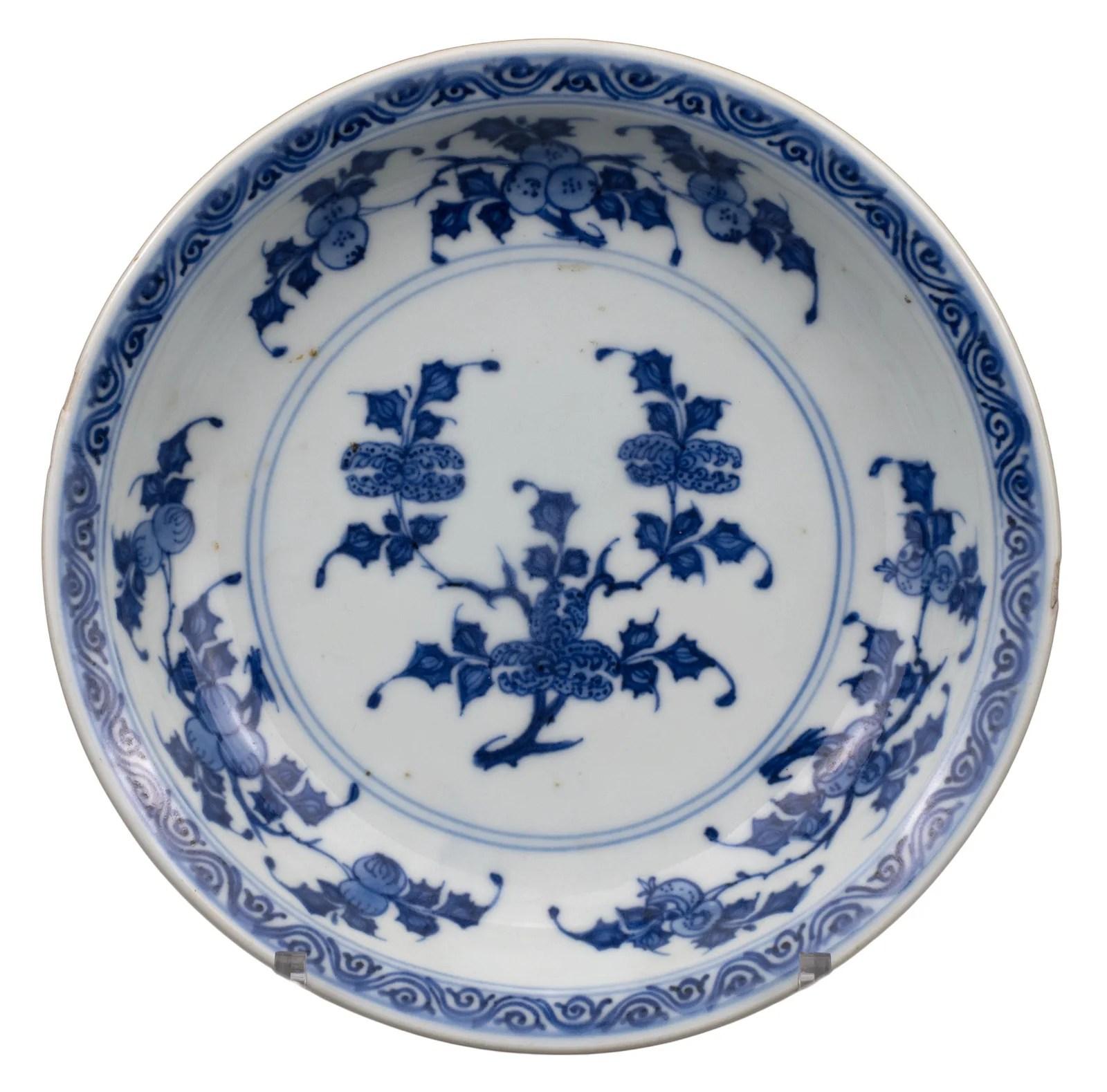 CHINESE BLUE AND WHITE 'THREE ABUNDANCES' PORCELAIN