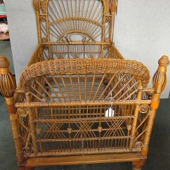 Baby Bamboo Chair Dining Room Covers South Africa Antique Victorian Wicker Crib Excellent Condition