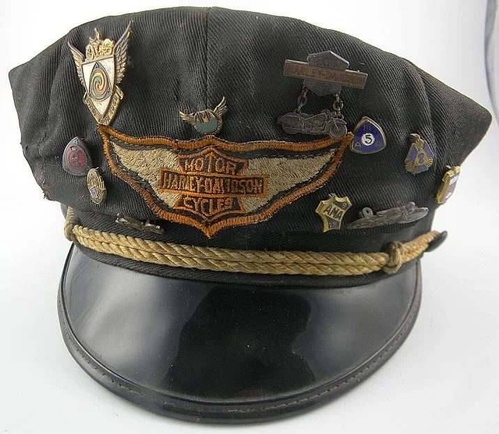 1h Harley Davidson 50s Hat With 11 Pins 25 000