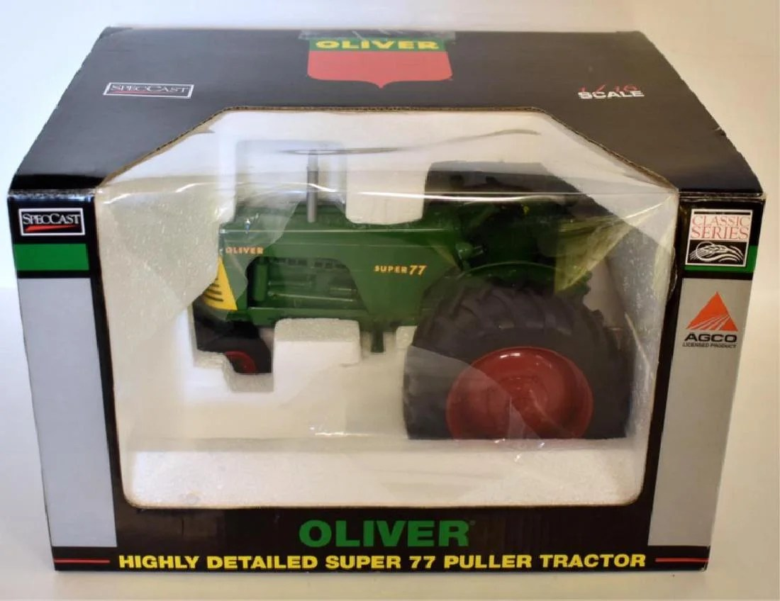 medium resolution of oliver super 77 puller toy tractor replica nos dec 13 2018 mclaren auction services in or